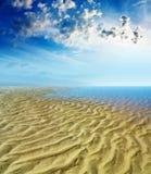 海滩背景 免版税库存图片