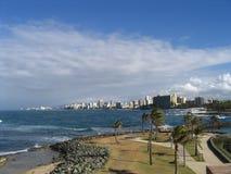 海滩胡安・波多里哥圣 免版税库存图片