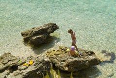 海滩自然未开化 免版税图库摄影