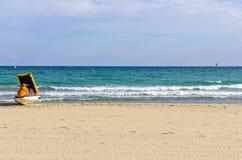 海滩自行车 库存图片