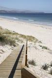 海滩舷梯 免版税库存图片