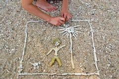 海滩艺术 免版税库存图片