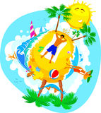 海滩节假日夏天 免版税库存图片