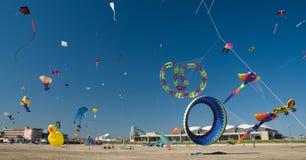海滩节日风筝 免版税图库摄影