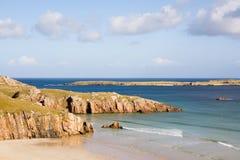 海滩苏格兰人 免版税图库摄影