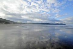 海滩英国woolacombe 图库摄影