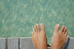 海滩英尺生活 免版税图库摄影