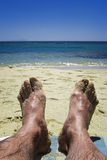 海滩英尺 免版税库存照片