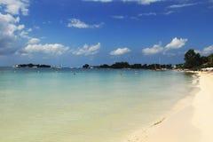 海滩英里七 牙买加negril 免版税库存照片