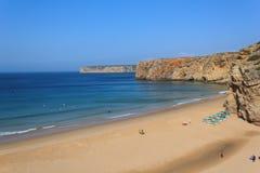 海滩葡萄牙 免版税图库摄影