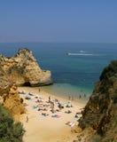 海滩葡萄牙 库存照片