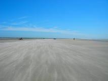 海滩蓝天 库存图片