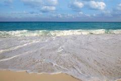 海滩蓝色加勒比海热带绿松石 免版税图库摄影