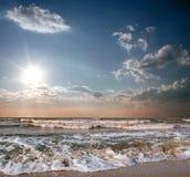 海滩蓝色海运天空 免版税库存照片