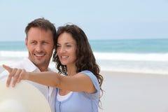 海滩蜜月手段 免版税库存照片