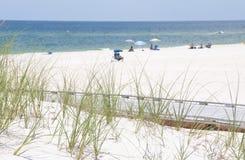 海滩行人佛罗里达 库存图片