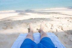海滩行程 免版税库存图片