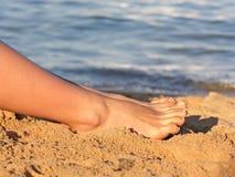 海滩行程 免版税库存照片