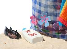 海滩行程 库存图片