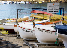 海滩装货区域 库存图片