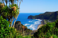 海滩西方海岸的视图 免版税库存图片