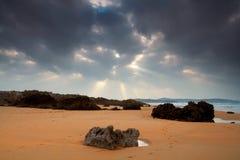 海滩西班牙valdearenas 免版税库存图片