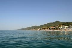 海滩视图在索契,俄罗斯 库存照片