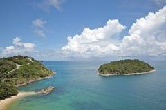 海滩视图yanui 免版税图库摄影