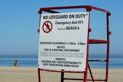 海滩警告 免版税库存图片