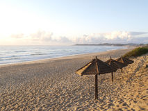 海滩豆腐伞 图库摄影