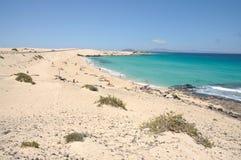 海滩费埃特文图拉岛西班牙 免版税库存图片
