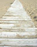 海滩走道 免版税库存照片