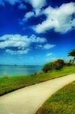 海滩走道 免版税图库摄影