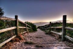 海滩走道 库存照片