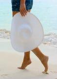 海滩走 免版税库存图片