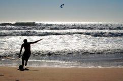 海滩足球 图库摄影