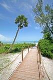海滩路 免版税库存照片