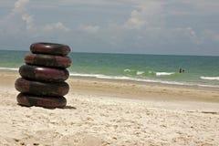 海滩轮胎 免版税图库摄影