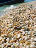 海滩轰击湿 图库摄影