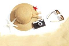 海滩辅助部件 免版税库存照片