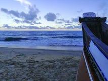 海滩边看法风景  免版税库存图片