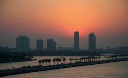 海滩迈阿密日出 免版税库存图片