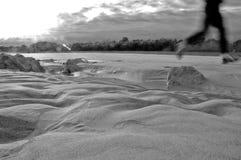 海滩运行中 免版税图库摄影