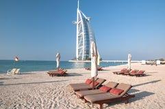 海滩迪拜阿拉伯联合酋长国 免版税图库摄影