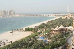 海滩迪拜jumeira阿拉伯联合酋长国 免版税库存图片