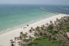 海滩迪拜jumeira 库存照片