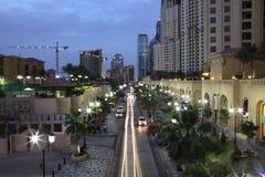 海滩迪拜jumeirah住宅 库存图片