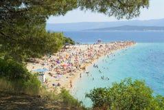海滩逗人喜爱的克罗地亚 库存图片