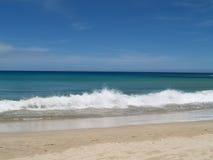 海滩通知 免版税库存照片