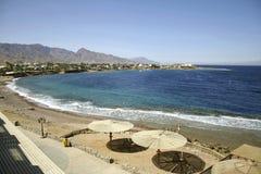 海滩遮阳伞红海 免版税图库摄影